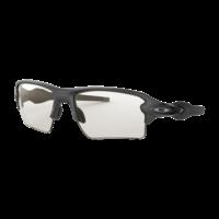 Flak 2.0 XL - Steel - Clear to Black Photocromic