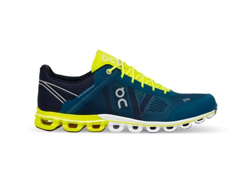 On Running Cloudflow - Men - Petrol|Neon - SIZE 7.5