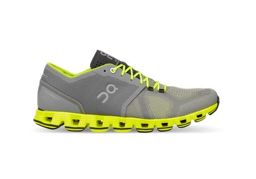 On Running Cloud X - Mens - Grey|Neon - SIZE 11.5