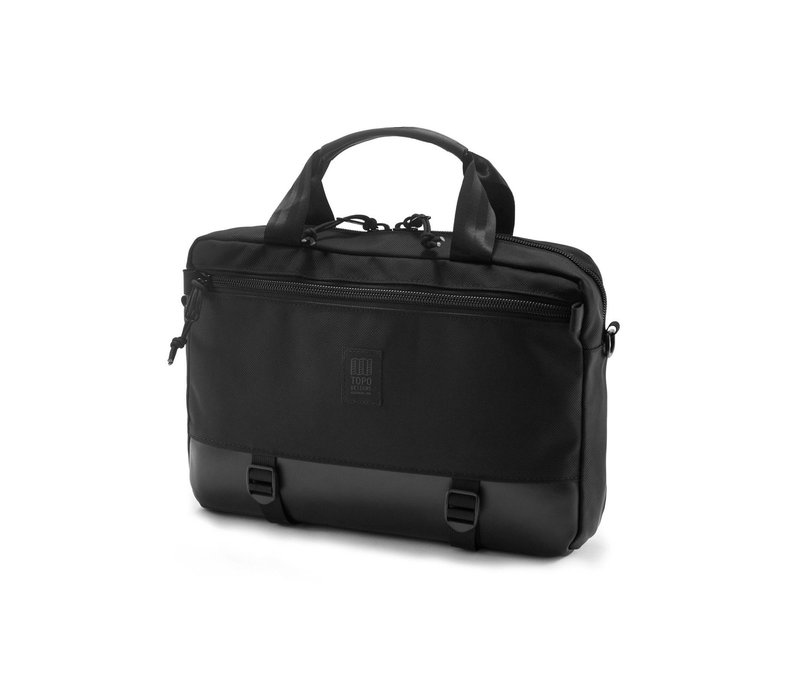 Commuter Briefcase Ballistic - Black Leather