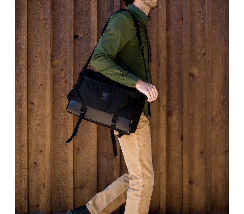 Commuter Briefcase Ballistic - Black Leather