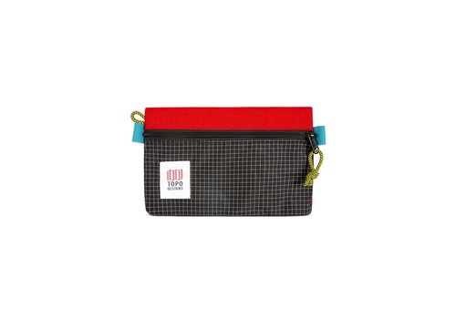 Topo Designs Accessory Bags Small - Red Black Ripstop