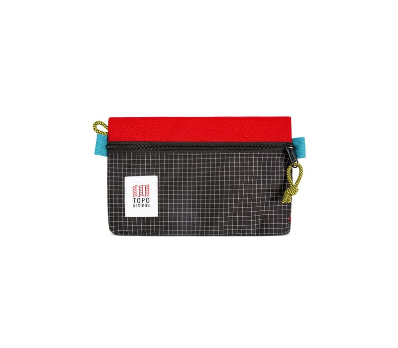 Accessory Bags Small - Red Black Ripstop