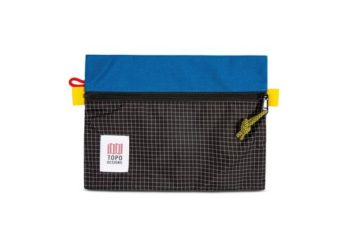 Topo Designs Accessory Bags Small - Blue Black Ripstop