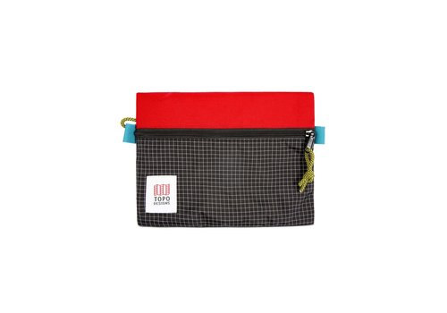 Topo Designs Accessory Bags Medium - Red Black Ripstop