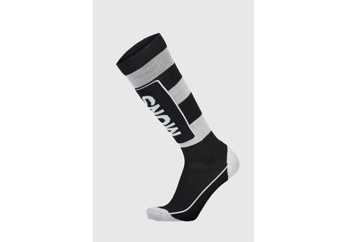 MonsRoyale Men's Mons Tech Cushion Sock - Black & Grey
