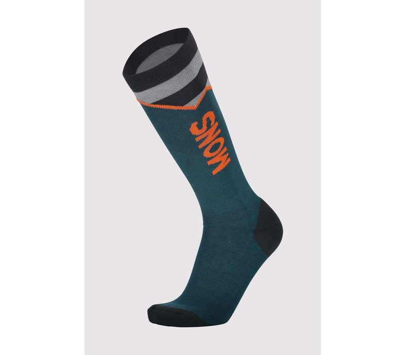 Men's Lift Access Sock - Atlantic & Orange Smash