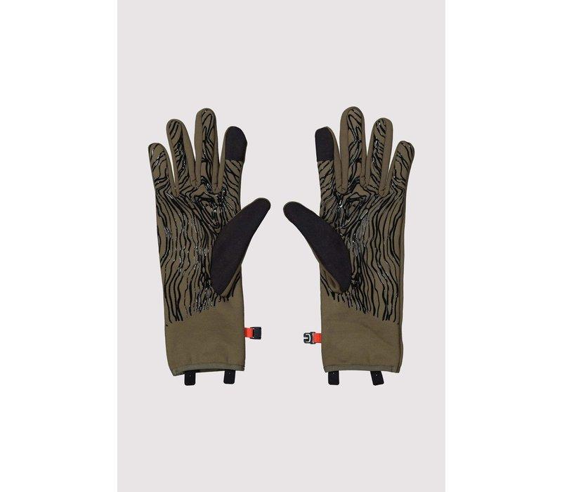 Unisex Amp Wool Fleece Glove - Canteen