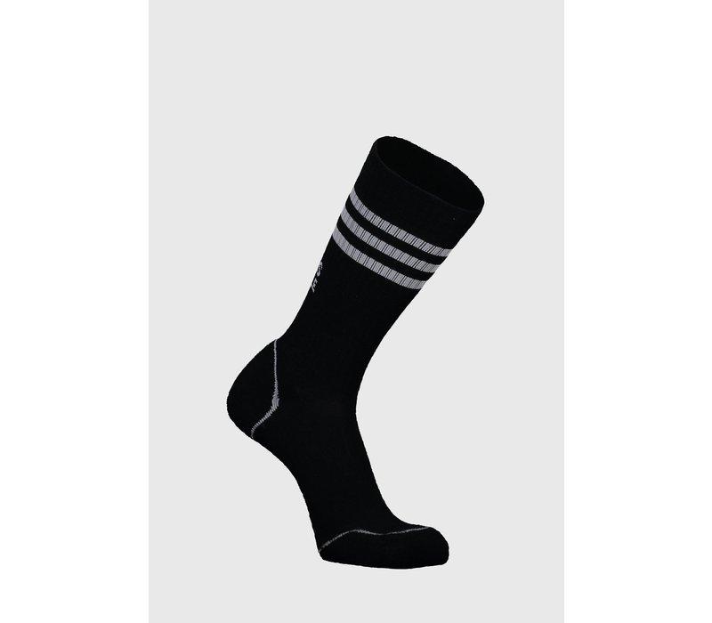 M's Signature Crew Sock - Black/Grey