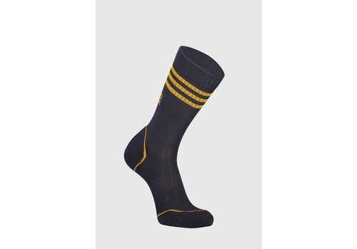 MonsRoyale M's Signature Crew Sock - Iron/Gold