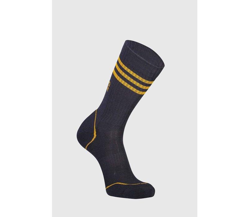 M's Signature Crew Sock - Iron/Gold
