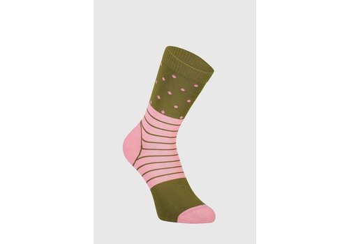 MonsRoyale W's All Rounder Crew Sock - Khaki/Rose