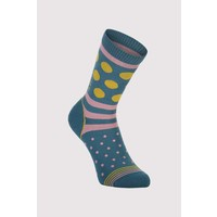 W's All Rounder Crew Sock - Deep Teal/Pink Clay/Honey