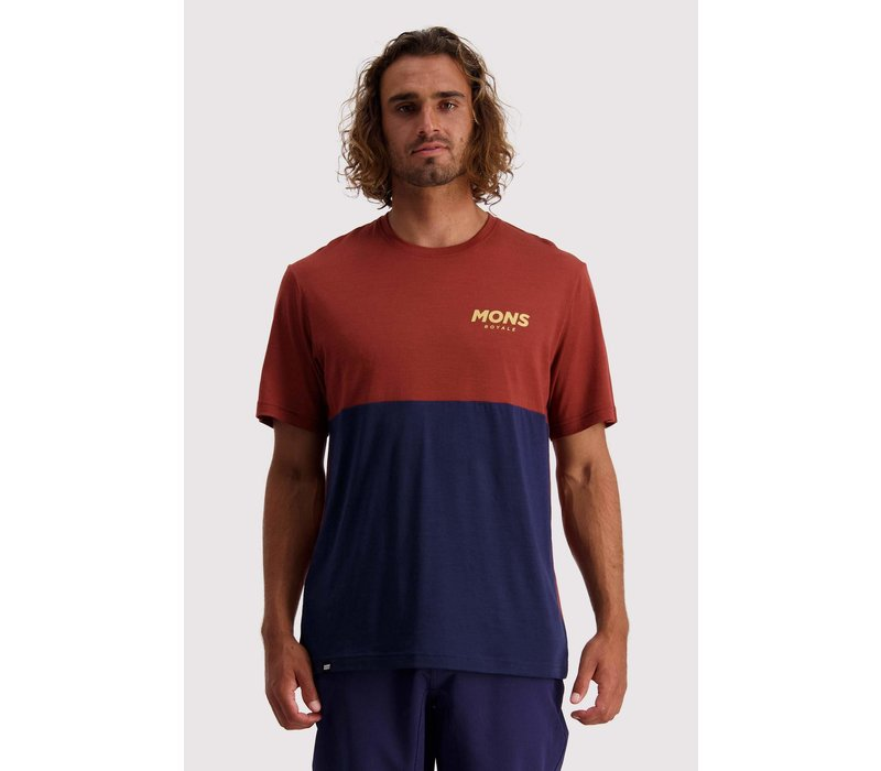 Men's Tarn Freeride T - Navy/Chocolate