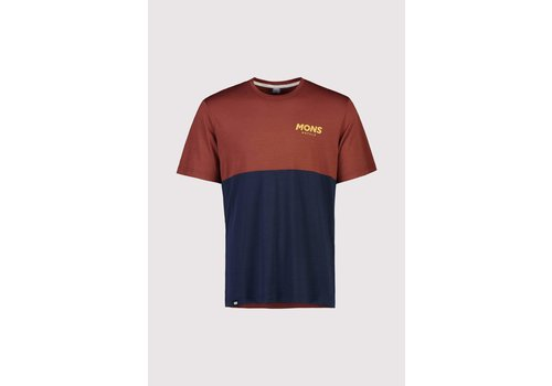 MonsRoyale Men's Tarn Freeride T - Navy/Chocolate