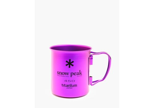 Snow Peak Ti-Single 450 Colored Cups - Purple