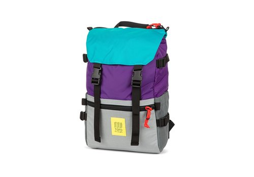 Topo Designs Rover Pack - Purple/Silver/Turquoise