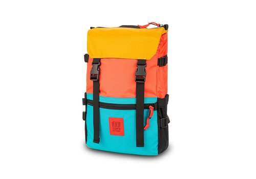 Topo Designs Rover Pack - Hot Coral/Turquoise/Mustard