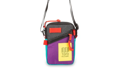 Topo Designs Mini Shoulder Bag - Purple/Black Ripstop