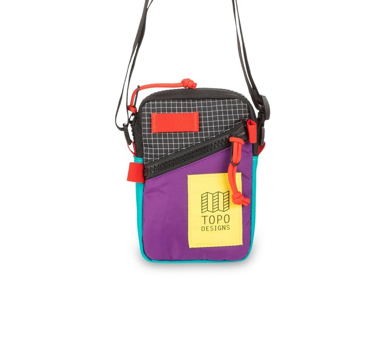 Mini Shoulder Bag - Purple/Black Ripstop
