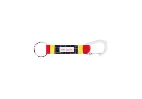 Topo Designs Subalpine Key Clip - Red/Black Ripstop