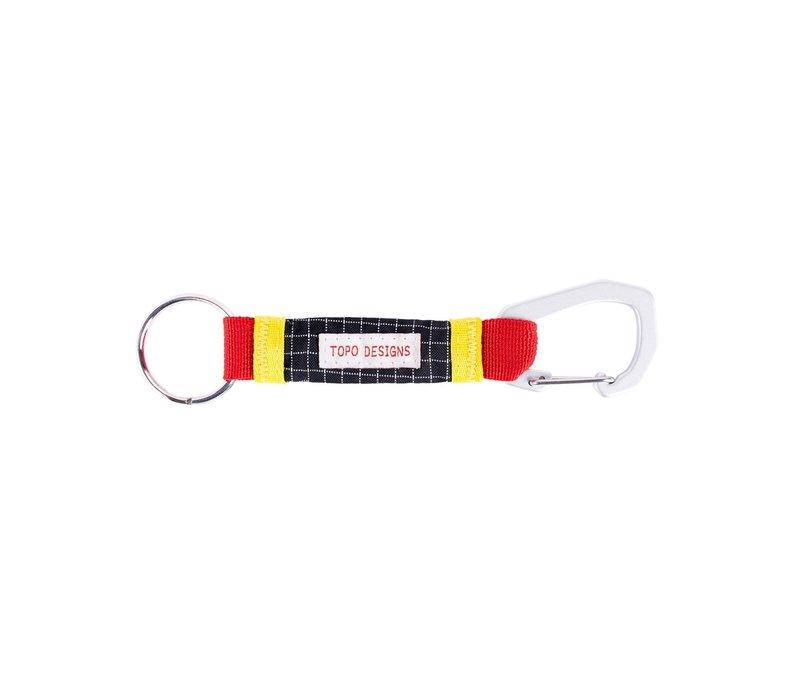 Subalpine Key Clip - Red/Black Ripstop