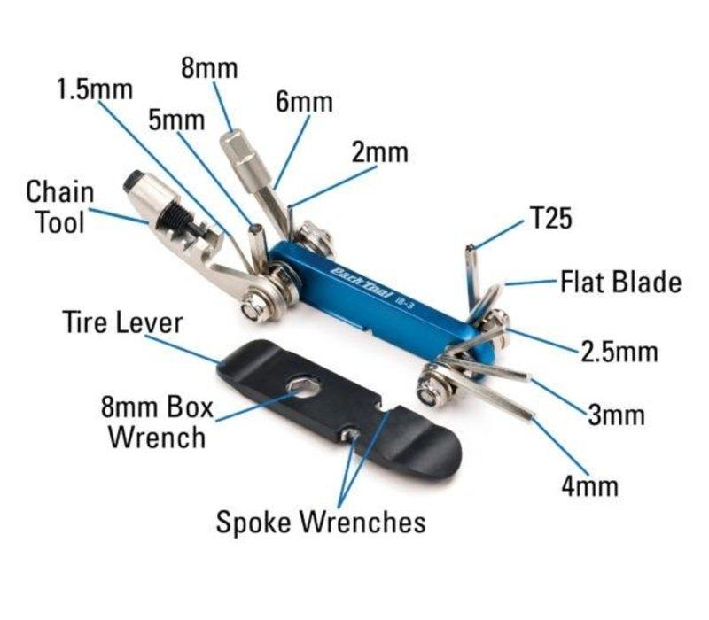 Park Tool, IB-3, I-Beam 3, Multi-tool, 13 functions