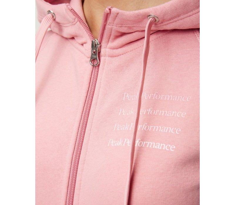 W Ground Zip - Hood - Warm Blush