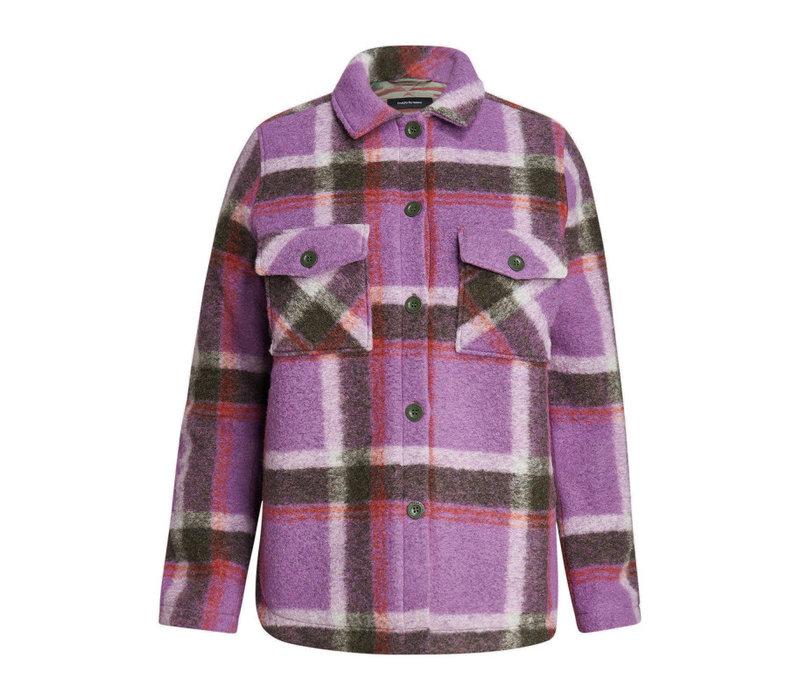 W Kelly Wool Shirt Jacket - 908 Check