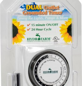 Hydrofarm Timer (Temporizador) Dual Outlet Analog