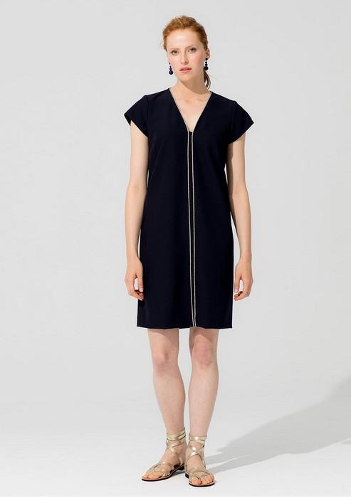 Vilagallo Astrid Solid Piping Dress