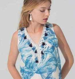Vilagallo Iris Linen Sleeveless Dress