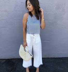 Greylin Amber Striped Crop Top