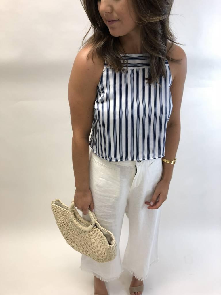 Greylin Amber Striped Crop Top