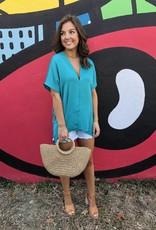 Karlie Solid V-Neck Tunic