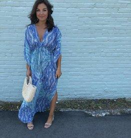 Karlie Abstract Kimono Maxi