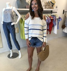 Cupcakes and Cashmere Cerice Cold Shoulder Sweater