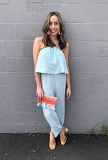 Cupcakes and Cashmere Barretta Chambray Jumpsuit