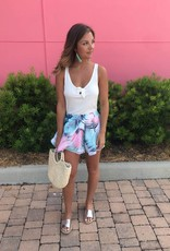 Tropical Print Swing Shorts