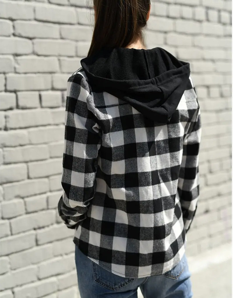 Buffalo Plaid Shirt w/Zip Hoodie