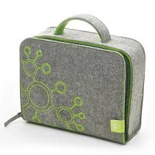 Tegu Tegu Magnetic Blocks Travel Tote Grey Felt