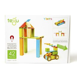Tegu Tegu Magnetic Blocks Tints 42 Piece Set