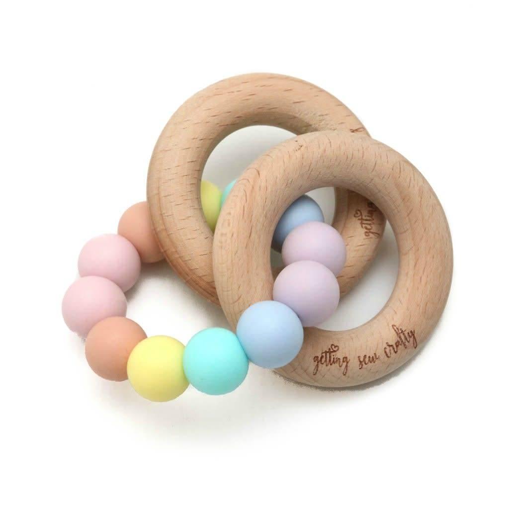 Getting Sew Crafty Teething Toy - Silicone + Wood