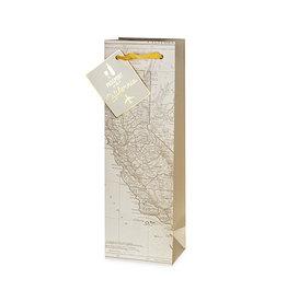 CALIFORNIA WINE MAP BAG