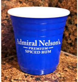 ADMIRAL NELSON BLUE SOLO CUP SHOT GLASS