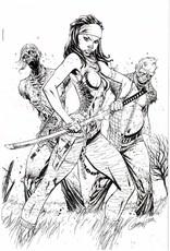 IMAGE COMICS WALKING DEAD #19 15TH ANNV CAMPBELL VAR B&W  NO LOGO