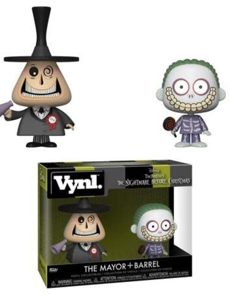 FUNKO VYNL NBX THE MAYOR BARREL 2PK VINYL FIGURE