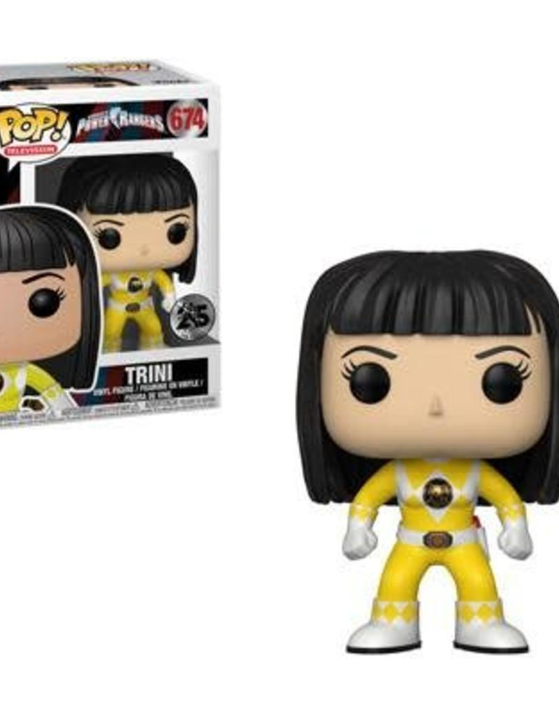 FUNKO POP POWER RANGERS YELLOW RANGER NO HELMET TRINI ACTION VINYL FIG