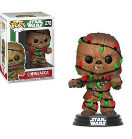 FUNKO STAR WARS HOLIDAY CHEWIE WITH LIGHTS POP