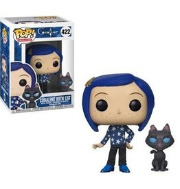 FUNKO POP MOVIES CORALINE WITH CAT VINYL FIG